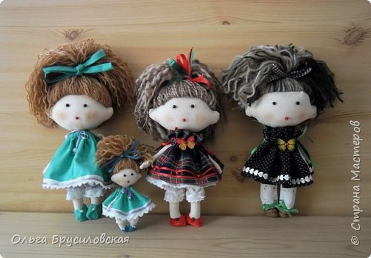 Привет всем в СМ! В моем кукольном семействе пополнение. Опять малышки (20см) Это - малышка в клетчатом. фото 5