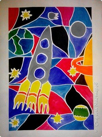 Рисунки детей 4 класса. Работа Боровиковой Анастасии. фото 5