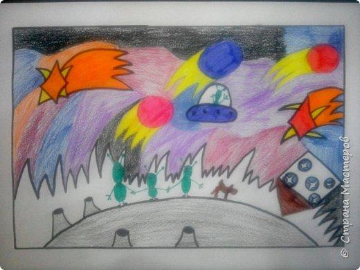 Рисунки детей 4 класса. Работа Боровиковой Анастасии. фото 16