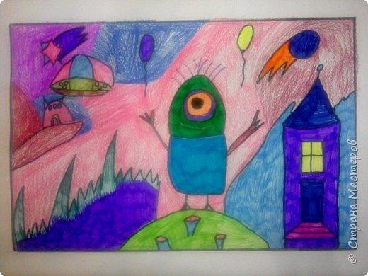 Рисунки детей 4 класса. Работа Боровиковой Анастасии. фото 17