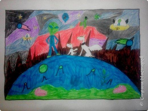 Рисунки детей 4 класса. Работа Боровиковой Анастасии. фото 18