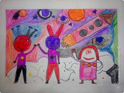 Рисунки детей 4 класса. Работа Боровиковой Анастасии. фото 19