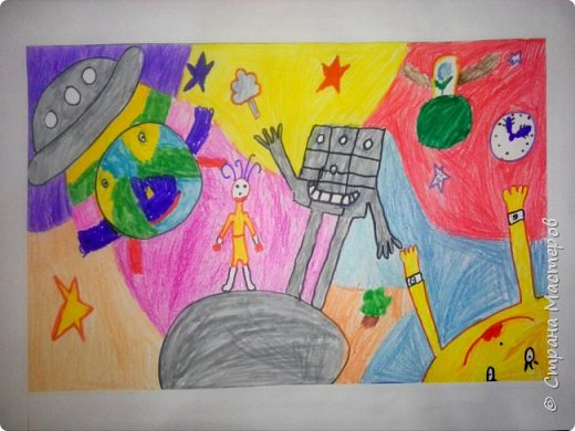 Рисунки детей 4 класса. Работа Боровиковой Анастасии. фото 24