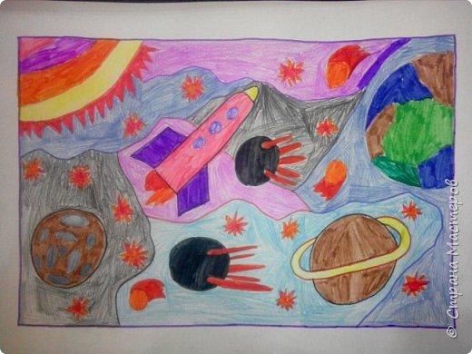 Рисунки детей 4 класса. Работа Боровиковой Анастасии. фото 27