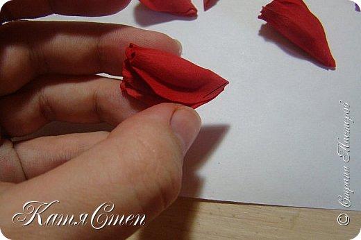 Предлагаю Вашему вниманию мой вариант создания пионовидной розы.  Материалы: 1. Фоамиран  2-х цветов - для розы и зеленый для листьев (я использовала иранский). 2. Термо-клей или супер-клей. 3. Молд листа розы (хотя можно и без него...). 4. Ножницы. 5. Губка для посуды. 6. Округлый предмет\булька - у меня шарик от светильника))). 7. Утюг. 8. Краска для тонировки листьев - акрил, пастель сухая или масляная.  9. Лак акриловый (по желанию или наличию))).   фото 25