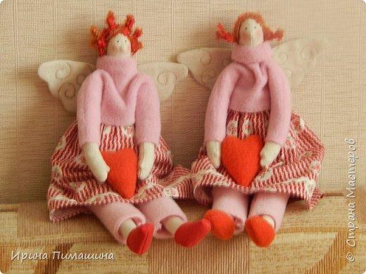Парочка тильдочек  в розовом - феечки домашнего уюта фото 1