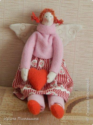 Парочка тильдочек  в розовом - феечки домашнего уюта фото 2