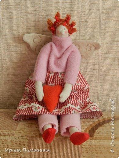 Парочка тильдочек  в розовом - феечки домашнего уюта фото 3
