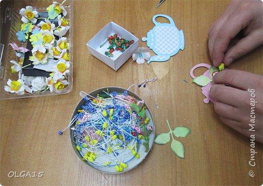 """Здравствуйте, дорогие мастера и мастерицы! Хочу поделиться  с Вами весенним настроением, сделали с детьми в кружке магнит-сувенир """"Чайник"""".  фото 5"""