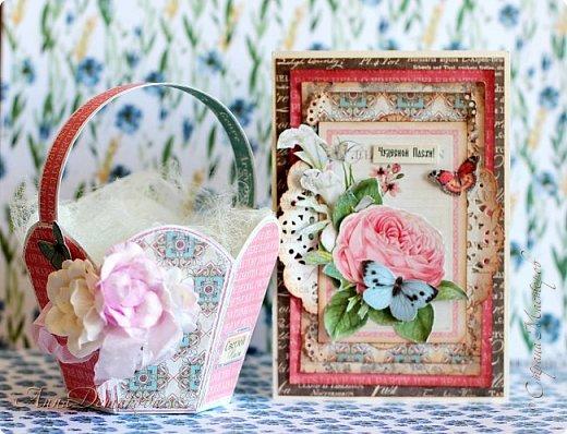 """Сделала несколько работ для выставки. Получилось два комплекта.  Использовала бумагу из коллекции Графика45 """"Ботанический чай"""".  фото 2"""