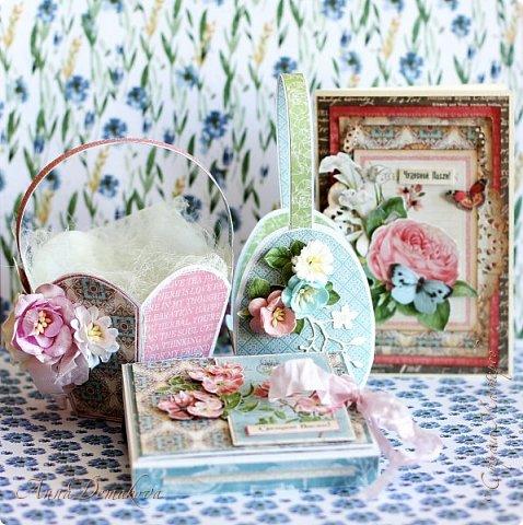 """Сделала несколько работ для выставки. Получилось два комплекта.  Использовала бумагу из коллекции Графика45 """"Ботанический чай"""".  фото 1"""