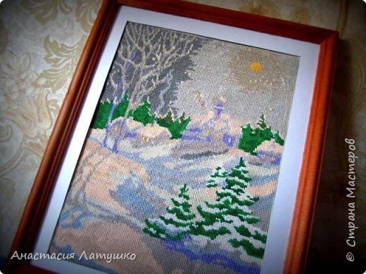 """ЗАКОНЧИЛА самую долгосрочную вышивку!!! 20 160 крестиков...  Если честно, начала вышивать этот """"Зимний пейзаж"""" ещё в декабре 2008 года и постоянно откладывала её ради других работ. Но наконец-то финиш!  фото 1"""