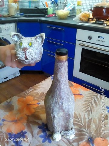 Кот на бутылке фото 3