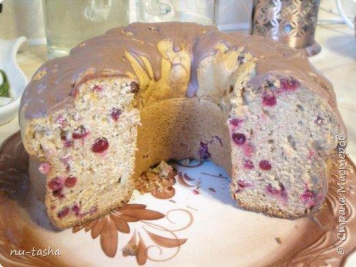 Будем готовить большой и вкусный кекс с тыквой, клюквой и яблоком. фото 14