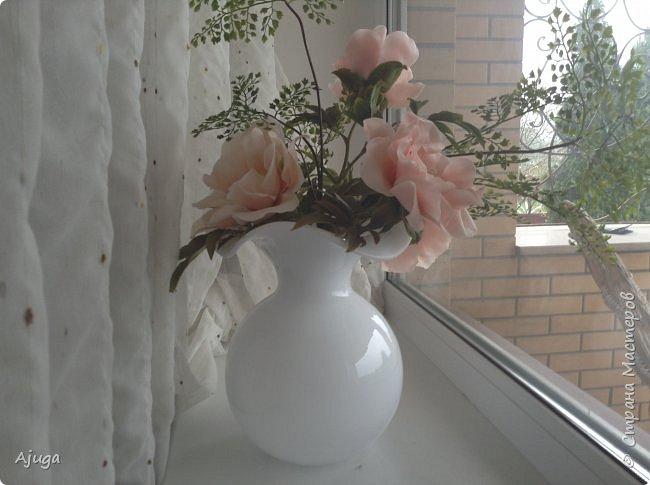 Композиция  с розой, ежевикой и фрезией. ХФ. фото 13