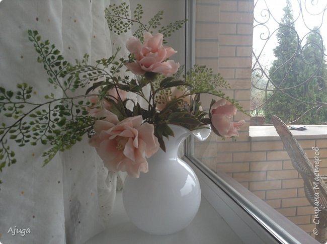 Композиция  с розой, ежевикой и фрезией. ХФ. фото 14