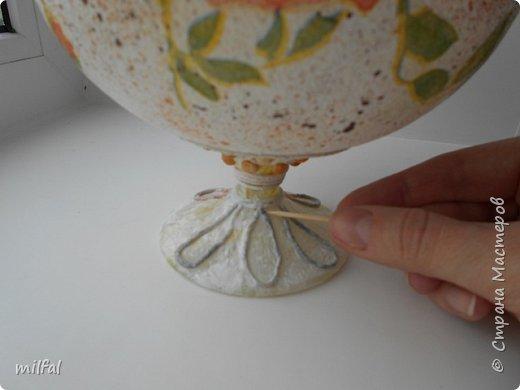 Здравствуйте посетители страны мастеров,хочу поделиться своим опытом декупажа в сочетании с пейп-артом. Преображения бокала  в вазу. фото 16