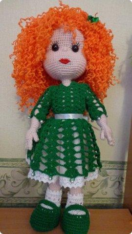 здравствуйте.Ещё одна проба пера. Рыженькая кукла. Высота куклы 42 см. фото 1