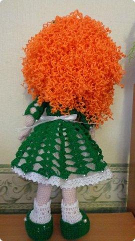 здравствуйте.Ещё одна проба пера. Рыженькая кукла. Высота куклы 42 см. фото 4