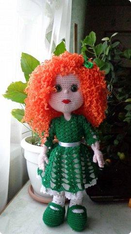 здравствуйте.Ещё одна проба пера. Рыженькая кукла. Высота куклы 42 см. фото 5
