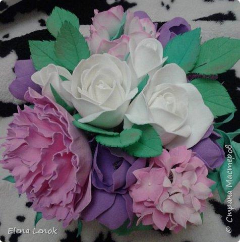 Свадебный букет из фоамирана. фото 7