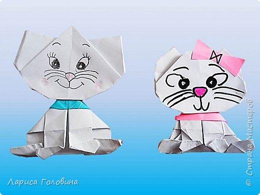 С третьеклассниками мастерили котят. Как их складывать https://www.youtube.com/watch?v=P3r5dbeuEUw&index=177&list=PUL5lvu-bCCISUbcEYlrD4NA Как всегда, работы ушли от оригинала. У каждой кошки получился свой характер фото 3