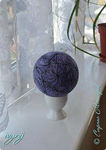 Это самый большой шар  на данный момент в моей коллекции , окружность 31см. фото 4