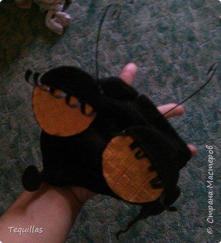 Вот такая из моей Доченьки муха Цокотуха!))) Сделала вот такой костюм. Головной убор. Шляпка и мордочка мухи с усами и хоботком. Мордочка сшита из эластичной ленты как косынка. на которую пришит хоботок и приклеены глаза фасетчатые и усики. фото 5