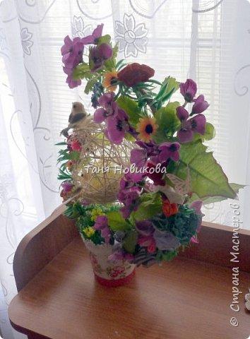 """Благодаря замечательному МК Елены  http://stranamasterov.ru/node/785144?c=favorite у меня теперь есть вот такое """"Семейное гнездышко""""!!!! Как-же оно мне нравится!!! фото 2"""