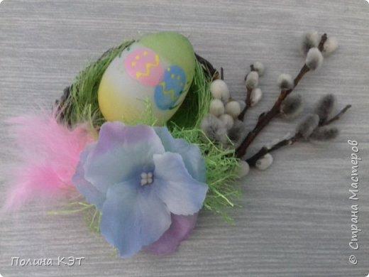 Подарочные пасхальные гнездышки для крашенок. фото 7