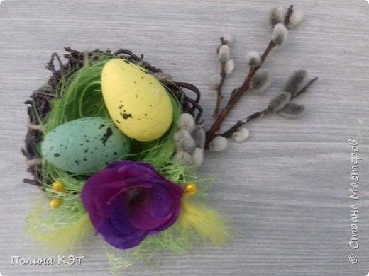 Подарочные пасхальные гнездышки для крашенок. фото 6