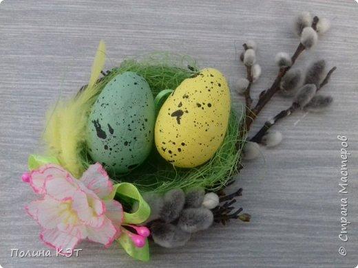 Подарочные пасхальные гнездышки для крашенок. фото 4