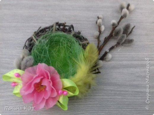 Подарочные пасхальные гнездышки для крашенок. фото 5