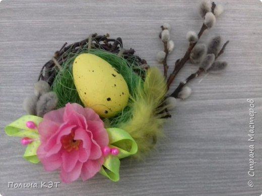 Подарочные пасхальные гнездышки для крашенок. фото 3