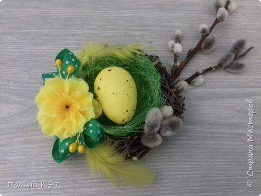 Подарочные пасхальные гнездышки для крашенок. фото 2