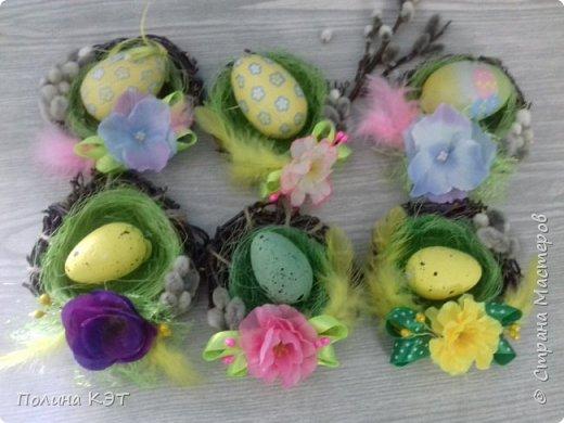 Подарочные пасхальные гнездышки для крашенок. фото 9