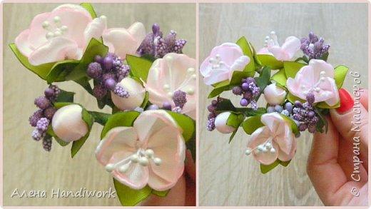 Цветок вишни своими руками
