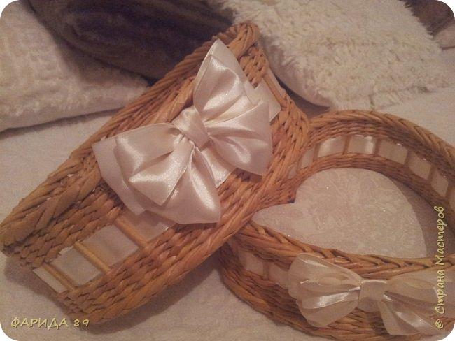Здравствуйте, всем, кто ко мне заглянул)) вот сплелись две корзинки в форме сердец на подарок) рада буду, если Вам понравится) фото 5