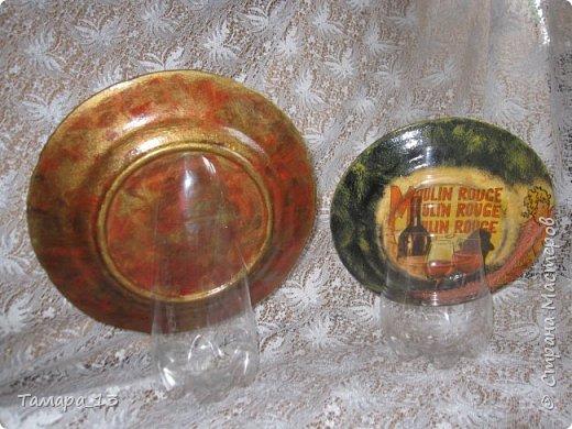 Подобных тарелок в интернете много, уж очень интересная идея. Правую тарелку делала по МК http://stranamasterov.ru/node/360387, левую по аналогии. фото 14