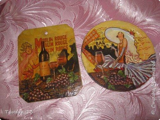 Подобных тарелок в интернете много, уж очень интересная идея. Правую тарелку делала по МК http://stranamasterov.ru/node/360387, левую по аналогии. фото 13