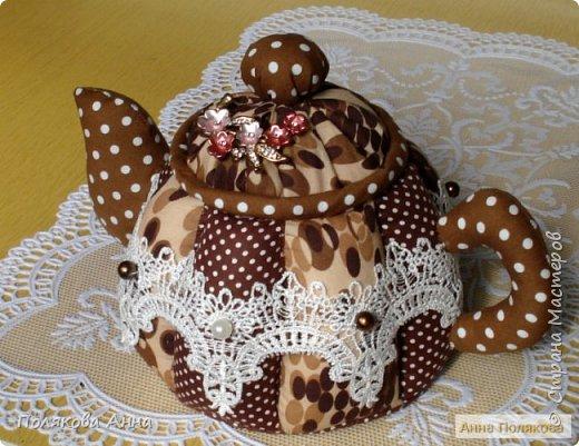 """Текстильный чайник """"Нежный"""" станет замечательным подарком, послужит шкатулочкой для чайных пакетов, конфеток, бижутерии или других мелочей, а также может быть необычной упаковкой для небольшого подарка. фото 8"""