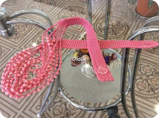 Вязаное колье. Ручная работа.  фото 3