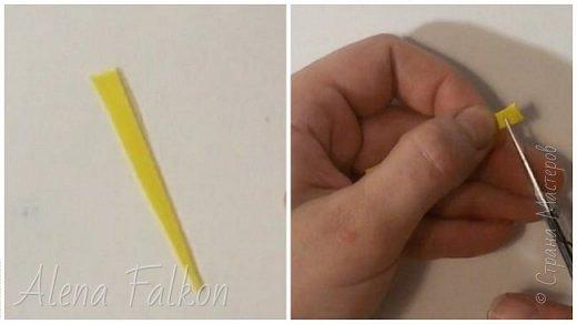 Хочу поделиться с вами своим способом изготовления миниатюрных ромашек из фоамирана. Диаметр такого цветка около 1.5 см. Они очень мило смотрятся на небольших украшениях. Так же я использовала такие ромашки в декоре фоторамок.   Для изготовления понадобится: - фоамиран белого и желтого цвета - дырокол пятилистник (ниже будет его фото) 1.5 см - суперклей - ножницы - проволока №20 в бумажной оплетке. Или любая другая тонкая проволока обмотанная гофро-бумагой или тейп-лентой. - зажигалка (в данном случае утюг не понадобится) - около 10-15 минут времени на одну ромашку фото 3