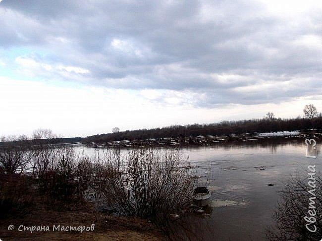 Я живу на Вятке,у нас очень красивая природа.Наш посёлок окружен с двух сторон реками Вятка и Медянка,а с двух сторон лес.У нас красиво в любое время года,вот и сейчас весной всё оживает!Немного опоздала с репортажем,лёд почти прошел,но кое что удалось заснять.Предлагаю просмотреть несколько фото.  фото 6