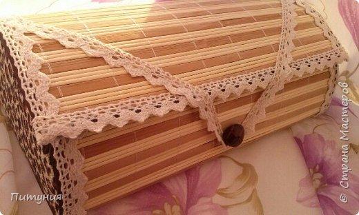 Шкатулка из бамбуковой салфетки. фото 1