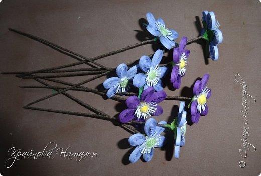 """Здравствуйте, дорогие мои друзья! Как и обещала, подготовила для вас в подарок МК по созданию нежного весеннего цветочка печёночницы, который был одной из частей триптиха """"Весенние цветы"""". http://stranamasterov.ru/node/1018985  Работа очень несложная, поэтому будет по силам даже начинающим мастерицам.  фото 9"""