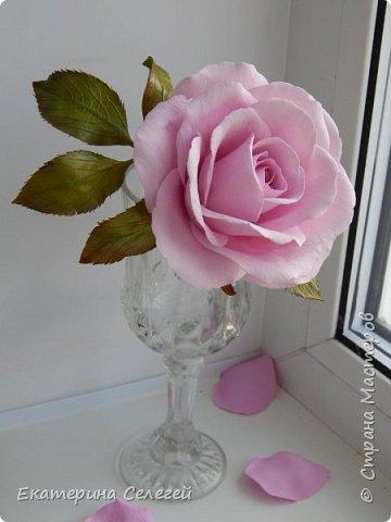 еще одна роза из фоамирана фото 4