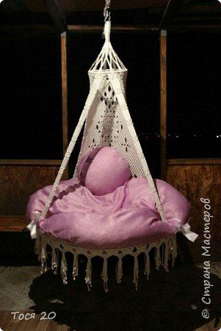 Доброго времени суток, дорогие жители страны! Вот готово еще одно кресло, теперь в белом цвете. фото 1