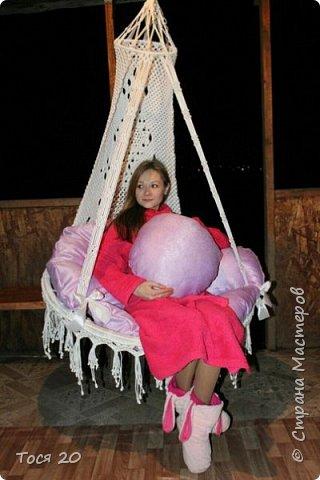 Доброго времени суток, дорогие жители страны! Вот готово еще одно кресло, теперь в белом цвете. фото 4