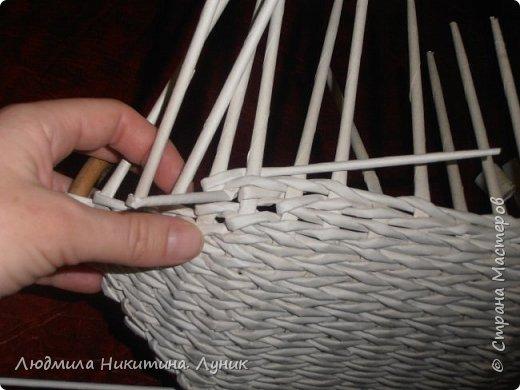 Привет Страна! Выполняю просьбу мастериц - выкладываю поэтапно плетение новой формы. Сразу оговорюсь, что размеры могут быть какими вам угодно. Это может быть даже большая напольная корзина.   фото 19